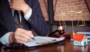 Attorney handling legal documentation